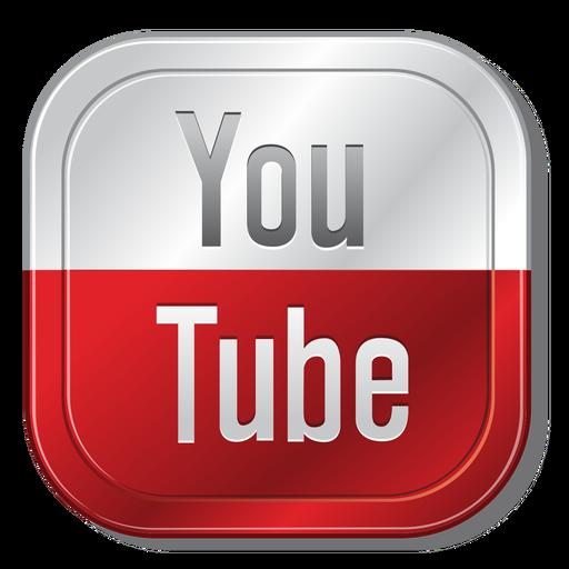 Youtube metallic button - PNG Youtube