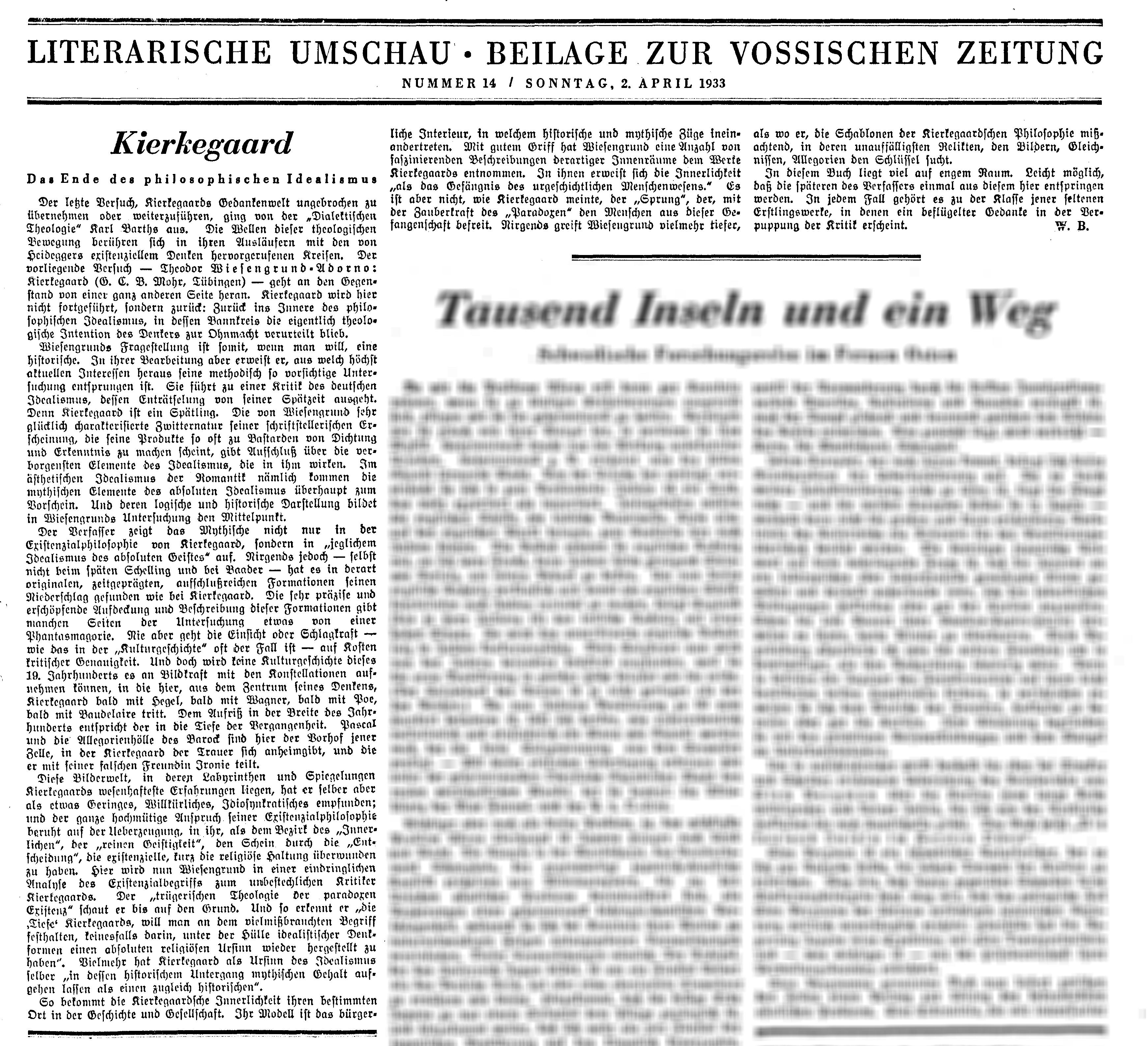 File:Kierkegaard-Vossische Zeitung-1933.png - PNG Zeitung