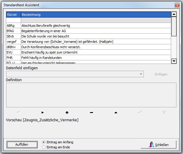 Datei:Zeugnis Standardtextassistent.png - PNG Zeugnis