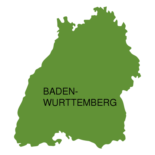 Baden wurttemberg state map Transparent PNG - PNGs Baden