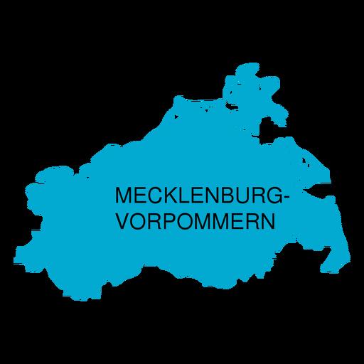 Mecklenburg west pomerania state map Transparent PNG - PNGs Baden