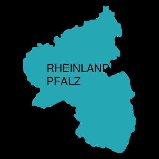 Rhineland palatinate state map Transparent PNG - PNGs Baden