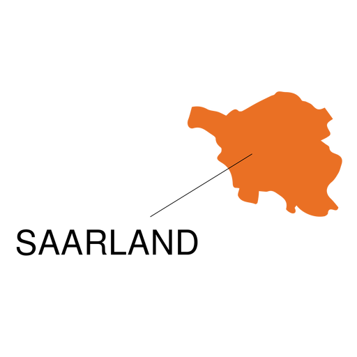 Saarland state map Transparent PNG - PNGs Baden