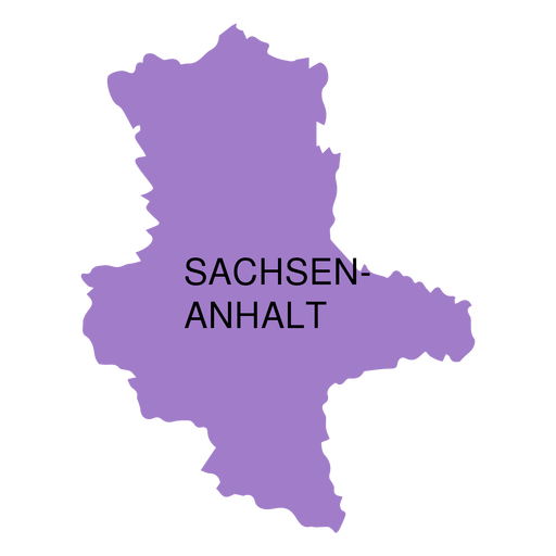 Saxony anhalt state map Transparent PNG - PNGs Baden