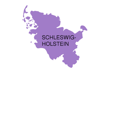 Schleswig holstein state map Transparent PNG - PNGs Baden