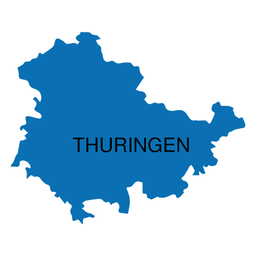 Thuringia state map Transparent PNG - PNGs Baden