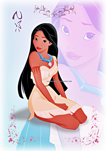 Personagens De Walt Disney Wallpaper Probably Containing Animê Titled Walt  Disney Fã Art - Princess Of - Pocahontas PNG HD