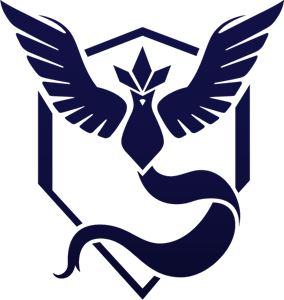 Pokemon GO Team Mystic Logo Vector - Pokemon Go PNG