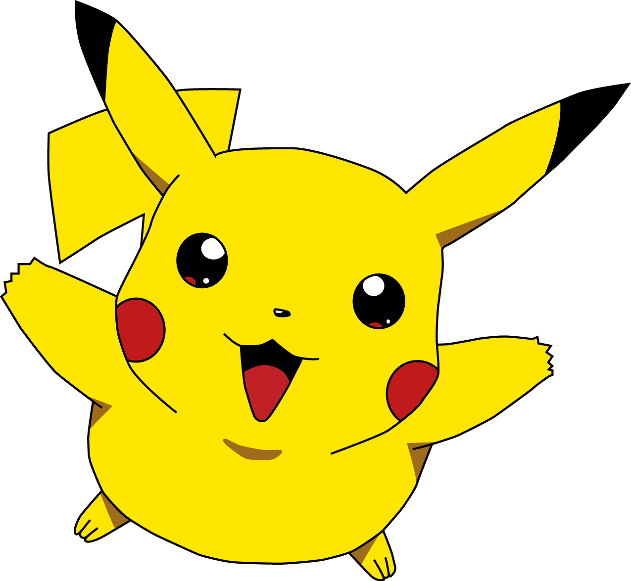 Pikachu (TRANSPARENT).png - Pokemon HD PNG