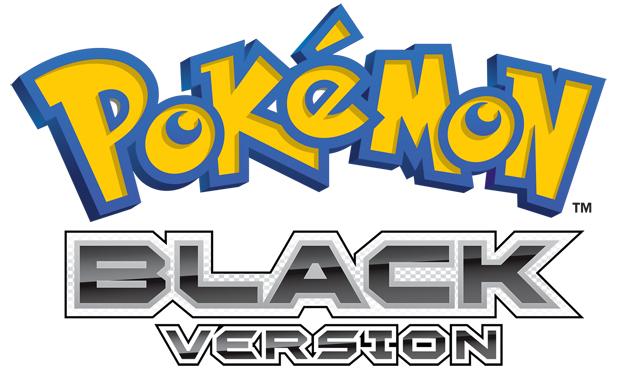 Pokemon Black Logo.png - Pokemon Logo PNG