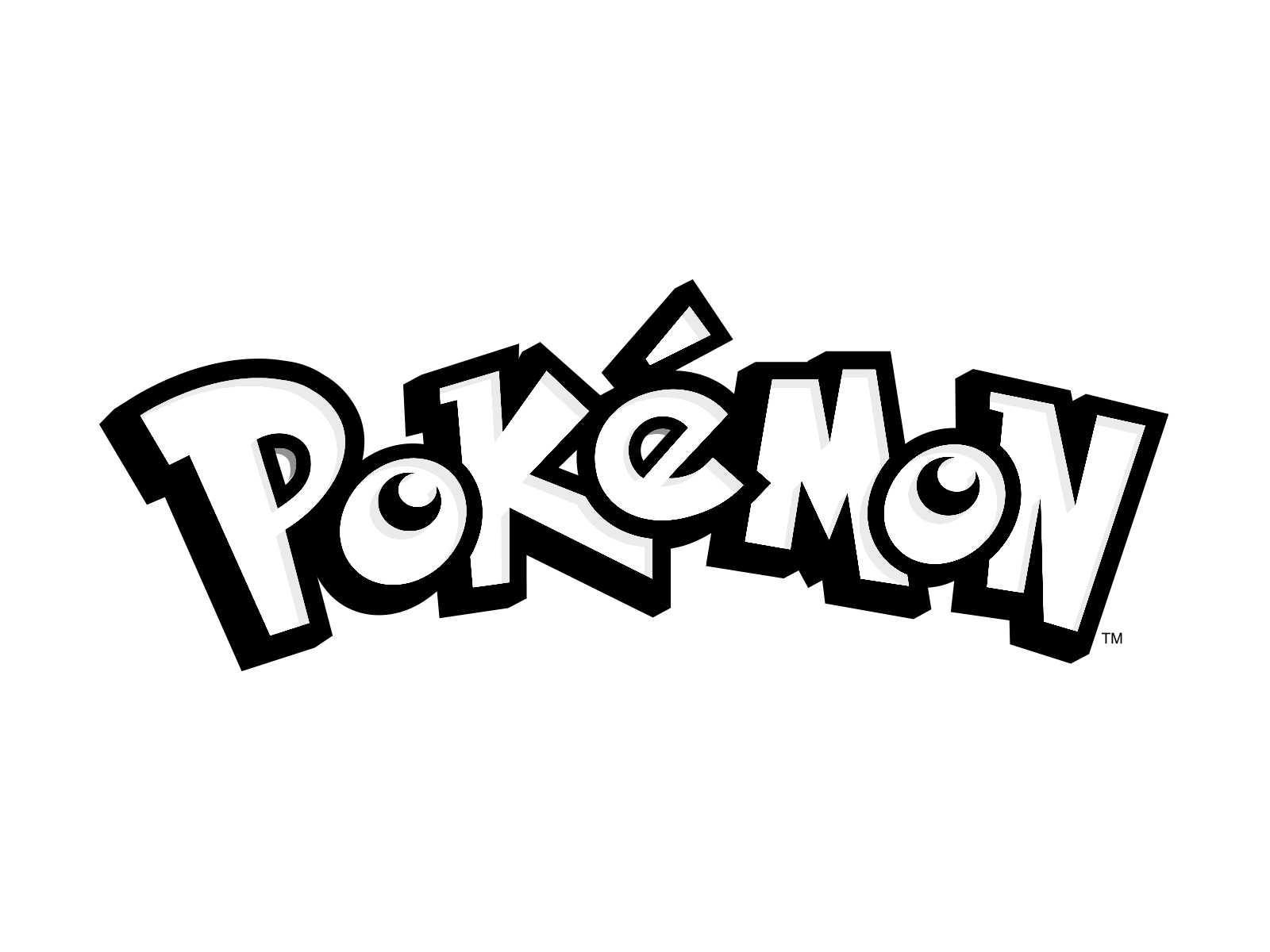 Pokemon Logo Black Transparent - Pokemon Logo PNG