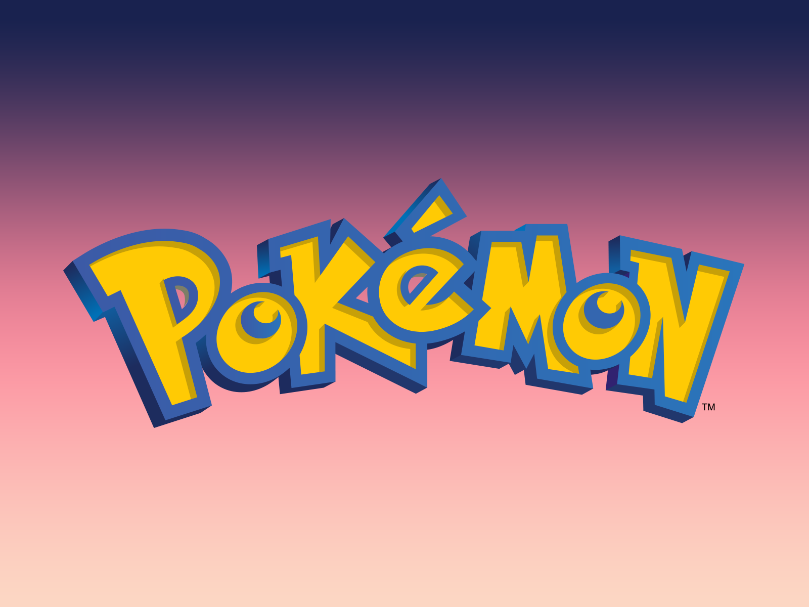 Pokemon Logo on Gradient - Pokemon Logo PNG