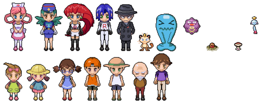 Pokemon Character Pixel Art by digitalChain PlusPng.com  - Pokemon People PNG