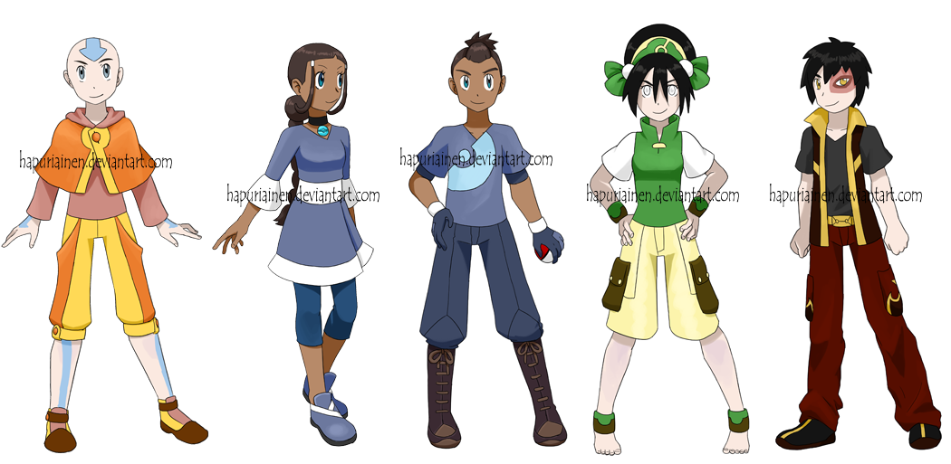 Pokemon Gaang by Hapuriainen PlusPng.com  - Pokemon People PNG