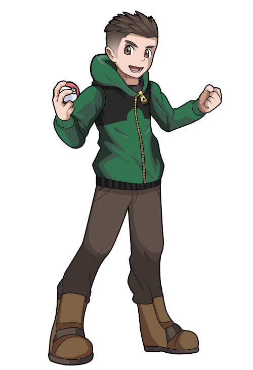 Pokemon trainer allan fullbody by ravenide-d9xj0wc.png - Pokemon People PNG
