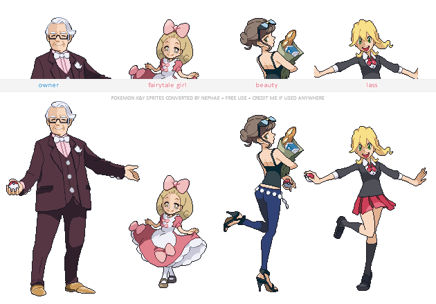 Pokemon XY trainer sprites ( I ) by Nephae PlusPng.com  - Pokemon People PNG