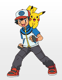 satoshi - Pokemon People PNG