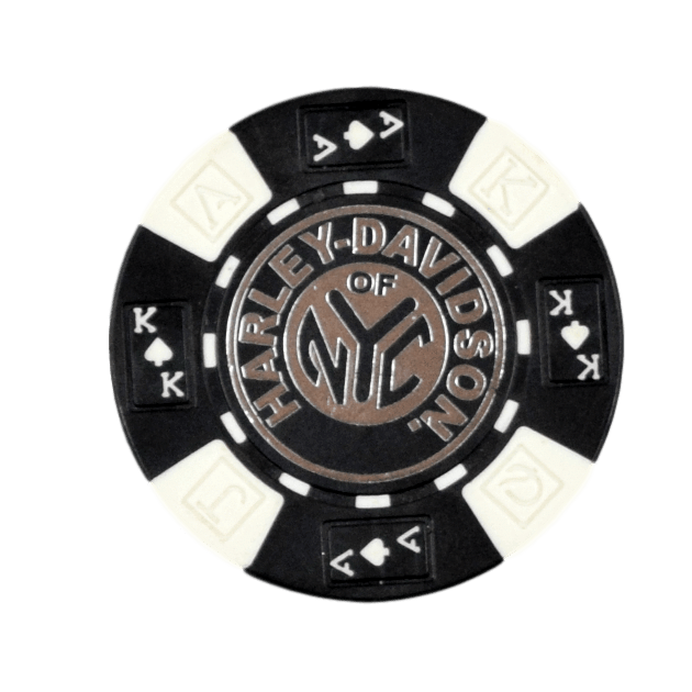 H-D Of NYC Black Poker Chip - Poker Chips PNG HD
