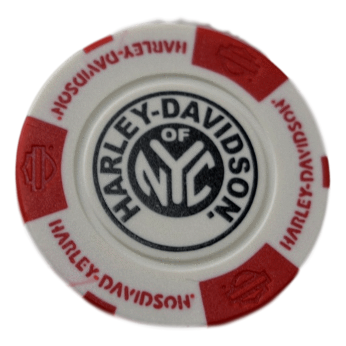 H-D Of NYC Red And White Poker Chip - Poker Chips PNG HD