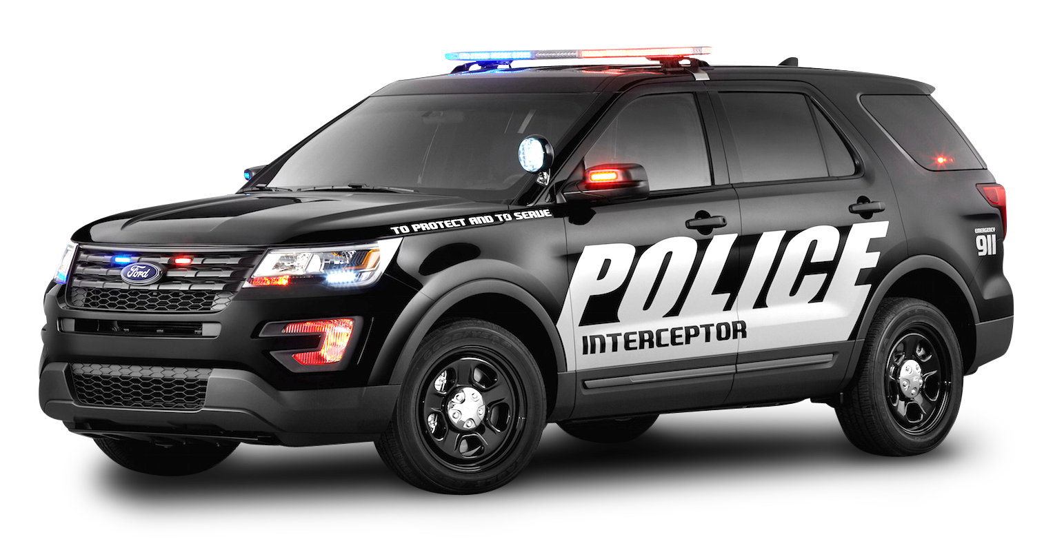 Black Ford Police Interceptor Car PNG Image - Police Car HD PNG