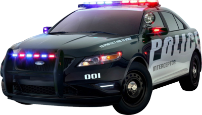 Black Ford Police Interceptor
