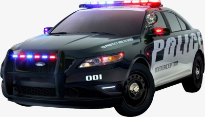 Police Car PNG Top View - 149905