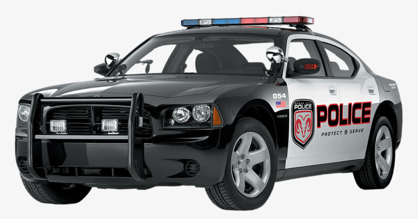 Black police car, Police Car, Police, European And American Police Car PNG  Image - Police Car PNG Top View