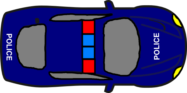 Download this image as: - Police Car PNG Top View