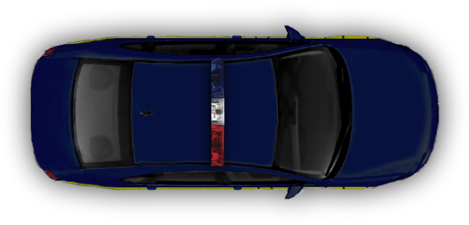 I tried to get the markings done right along the side. hard to do from a top -down perspective. the cop is dark blue with a yellow stripe along teh  side. the PlusPng.com  - Police Car PNG Top View