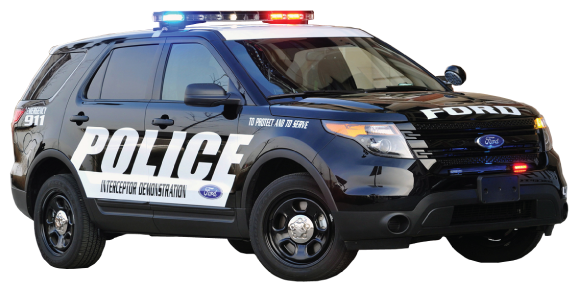 Police Car PNG Top View - 149906