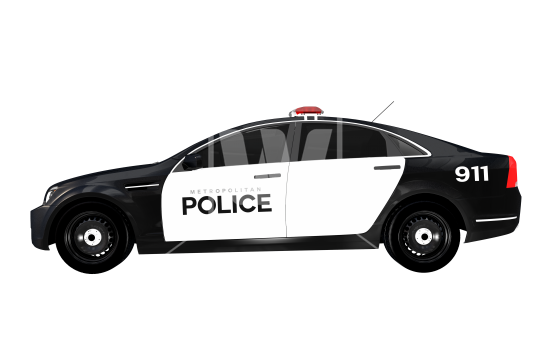 Side View Police Car - Police Car PNG Top View