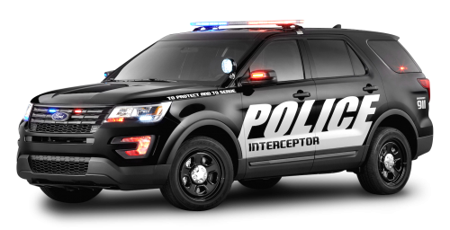 Black Ford Police Interceptor Car PNG Image - Police HD PNG