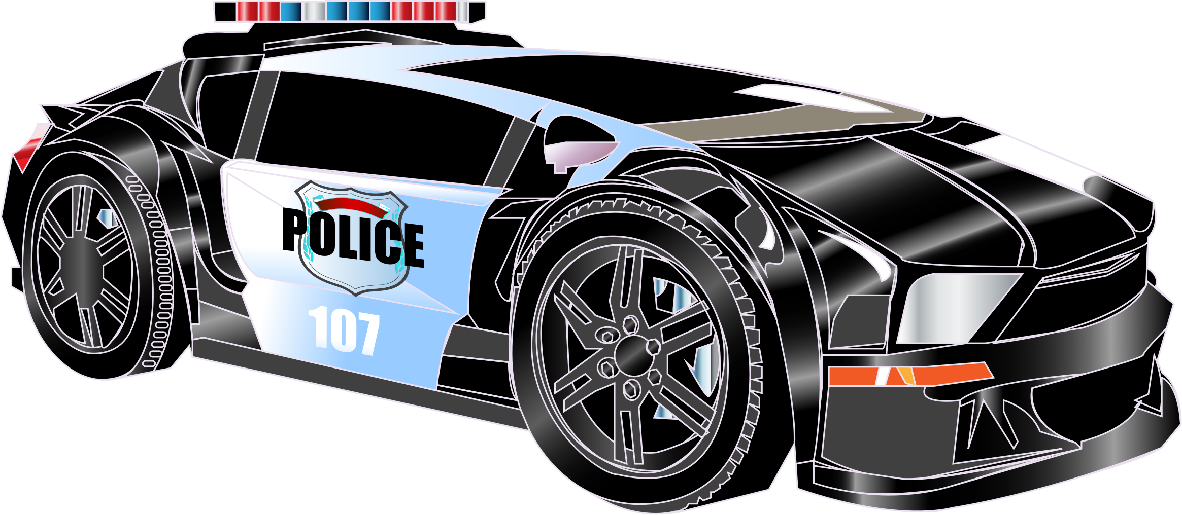 Clipart police car 2 - Police Car HD PNG - Police HD PNG