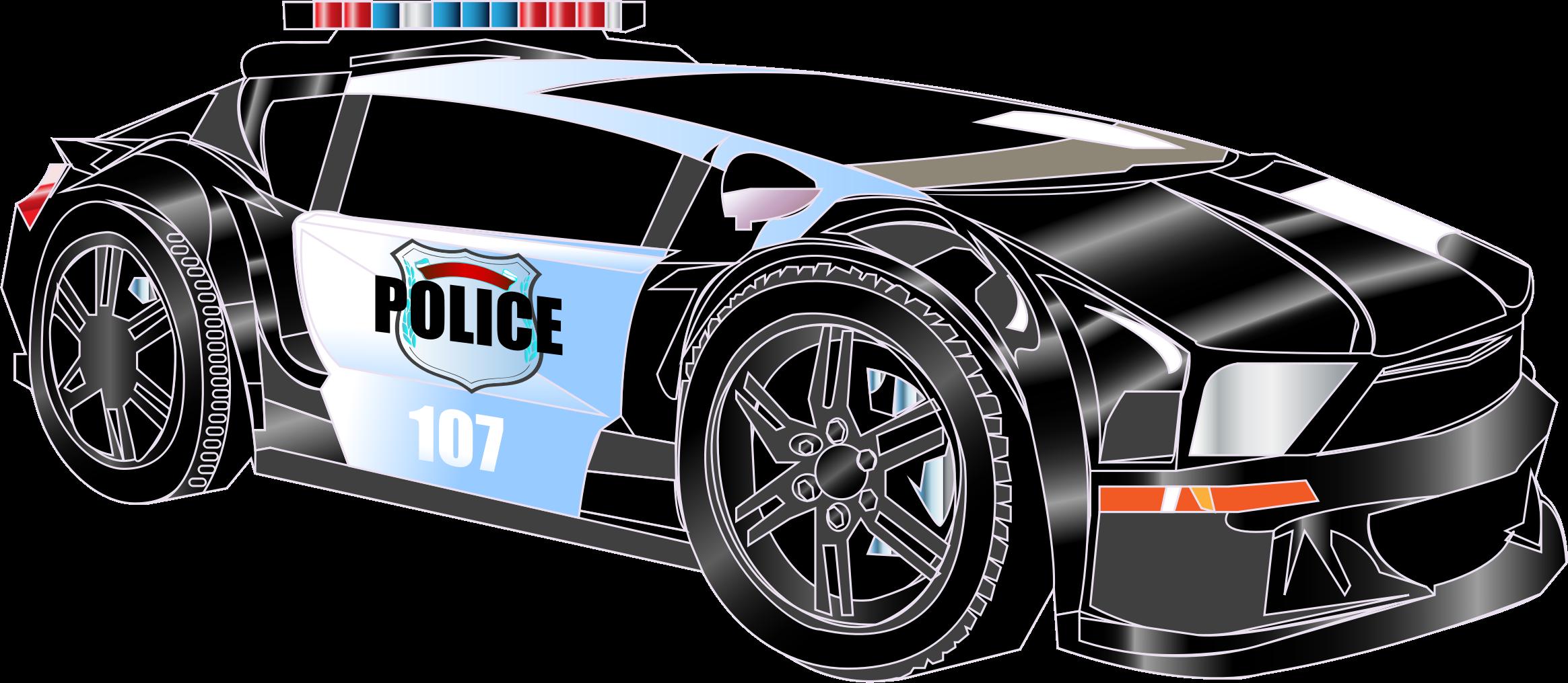 Clipart police car 2 - Police