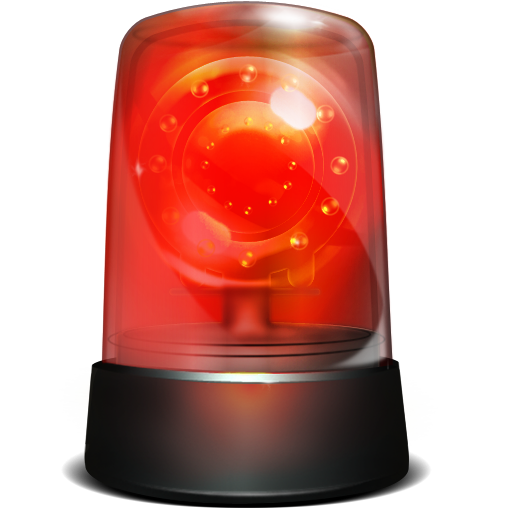 Alarm, Red, Robbery, Siren, Warning Icon. Download PNG - Police Siren PNG