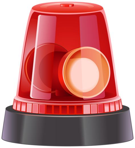 Red Police Siren PNG Clip Art Image | Clip Art A | Pinterest | Police Siren - Police Siren PNG