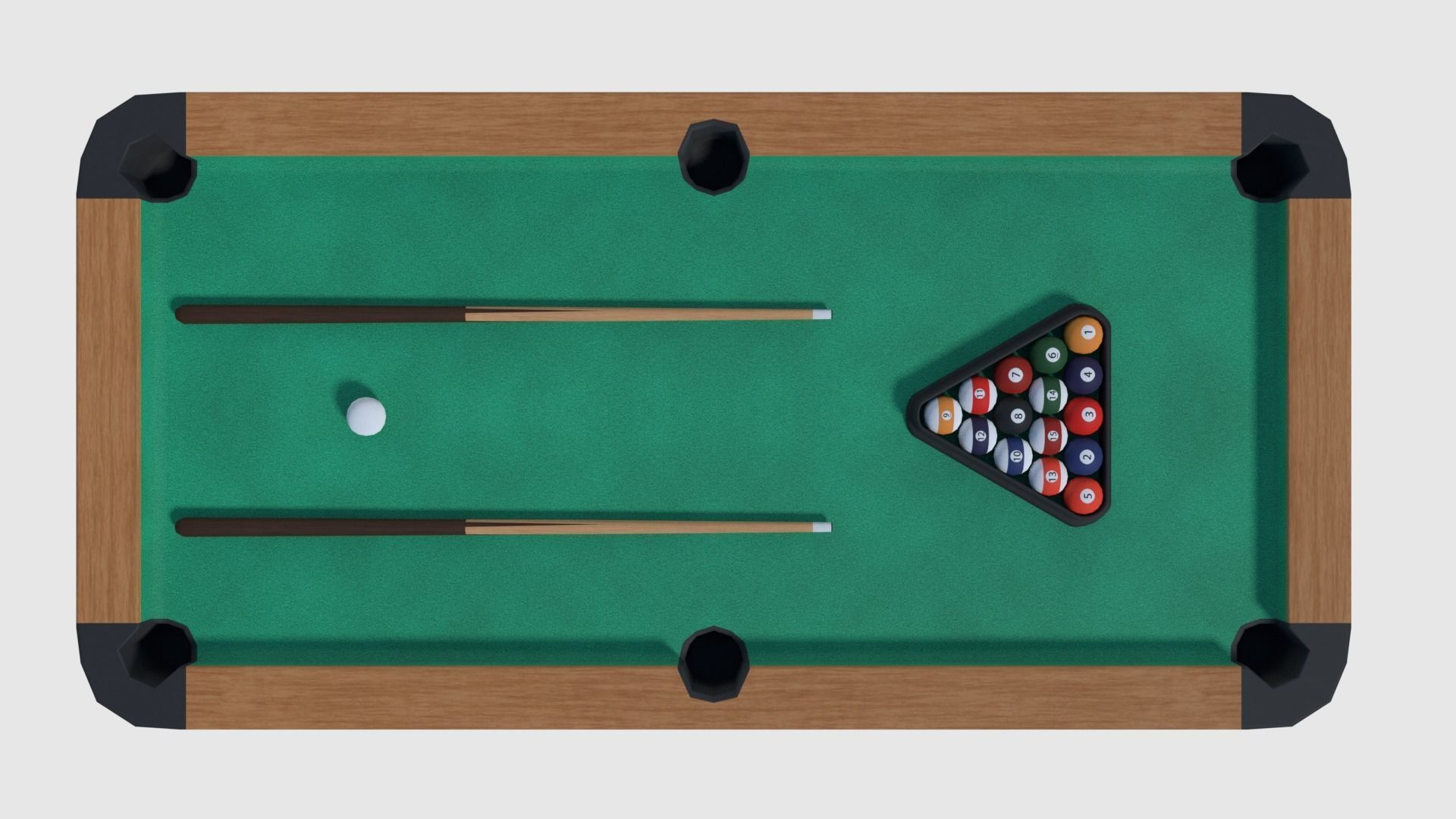 . PlusPng.com pool table - game ready 3d model obj fbx blend dae 4 PlusPng.com  - Pool Table PNG HD