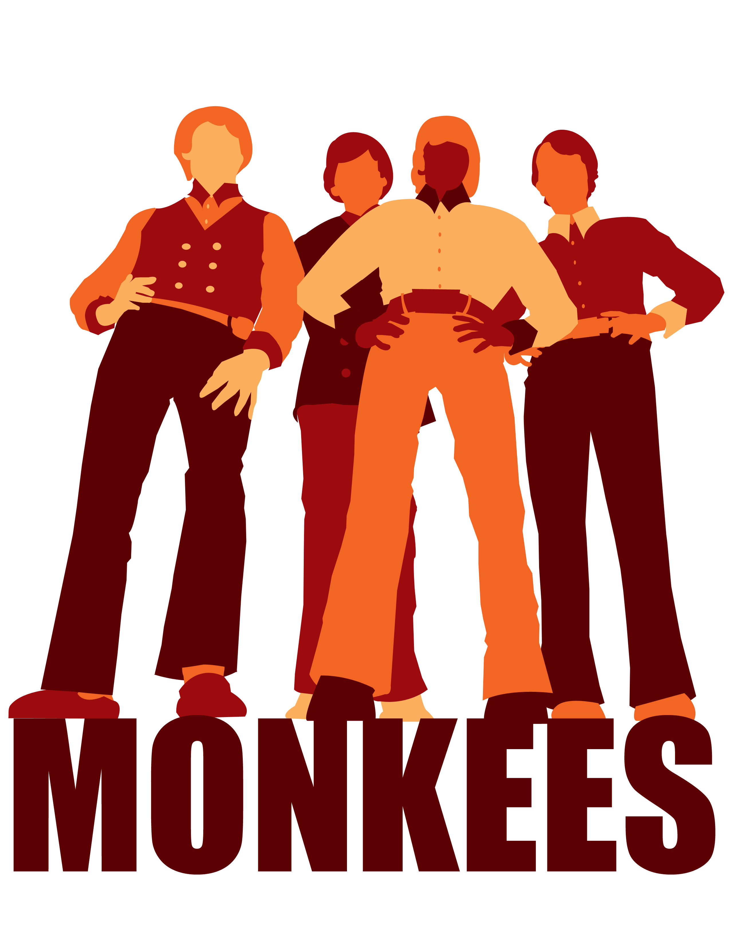 Listen To The Band Monkees Graphics - Pop Band PNG