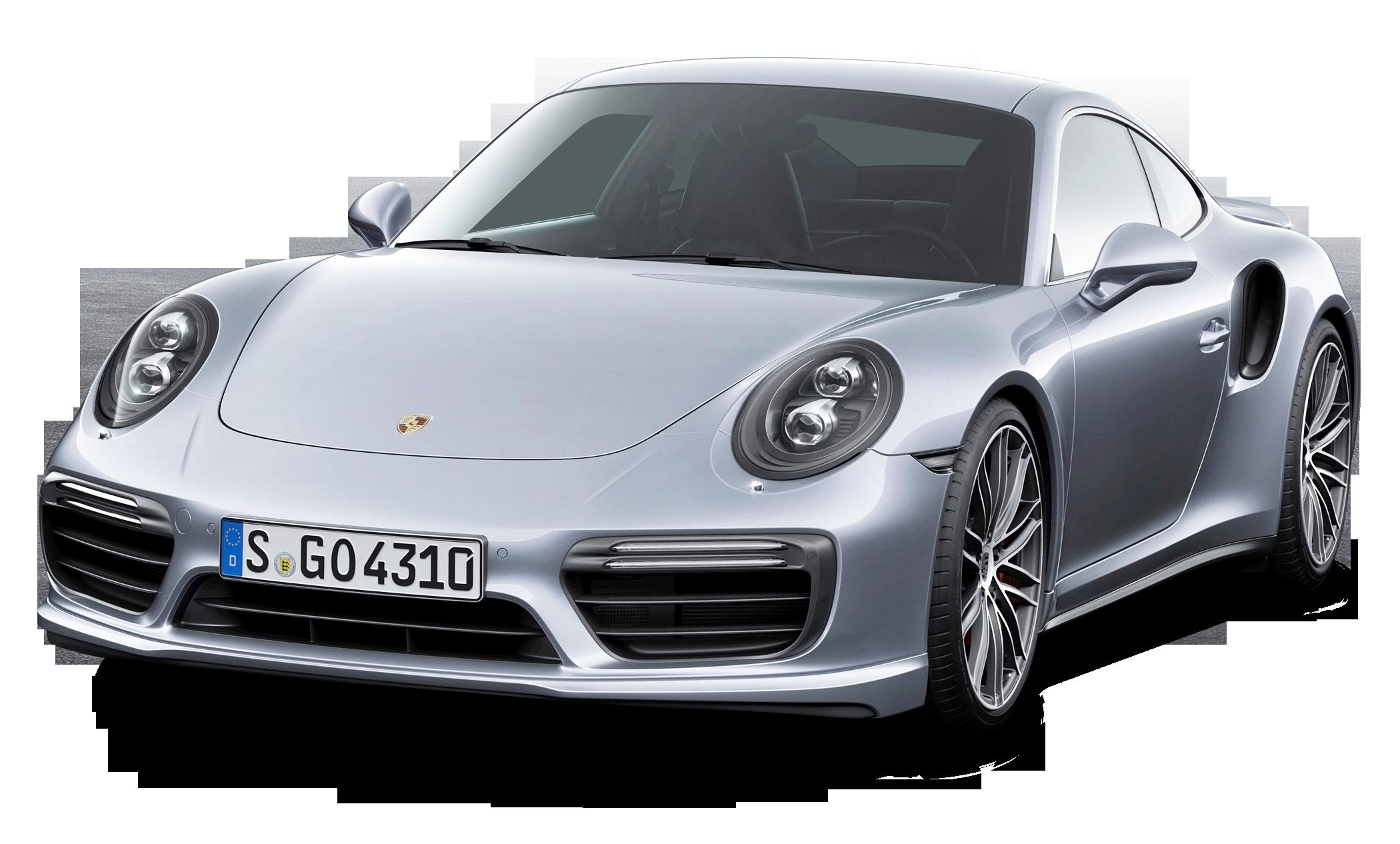 Porsche 911 Turbo Silver Car PNG Image - Porsche PNG