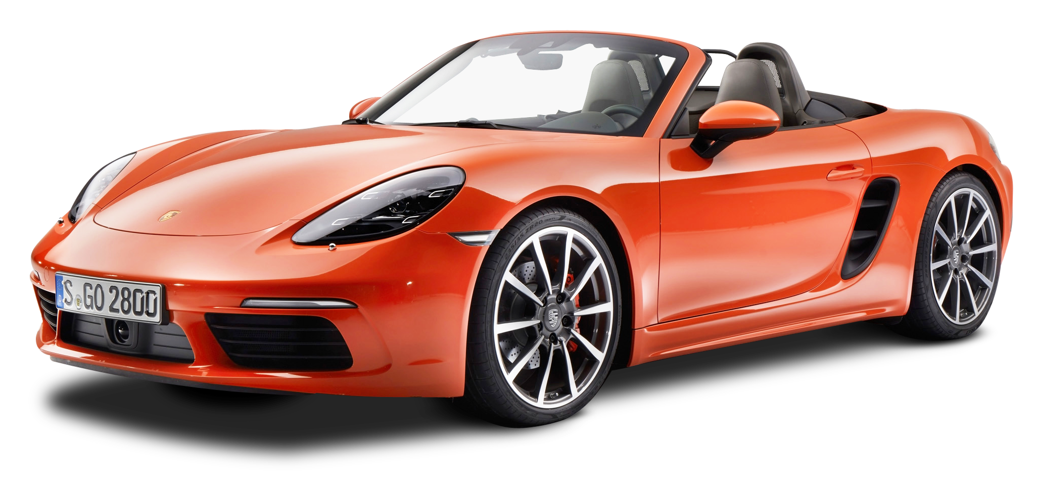 Porsche 718 Boxster S Orange Car PNG Image - Porsche HD PNG