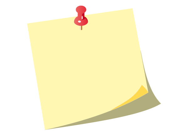 Free Vector Yellow Post-it Notes with Push Pin - Post Its PNG