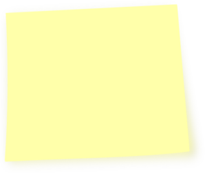 Light Yellow Post It Note Clip Art - Post Its PNG