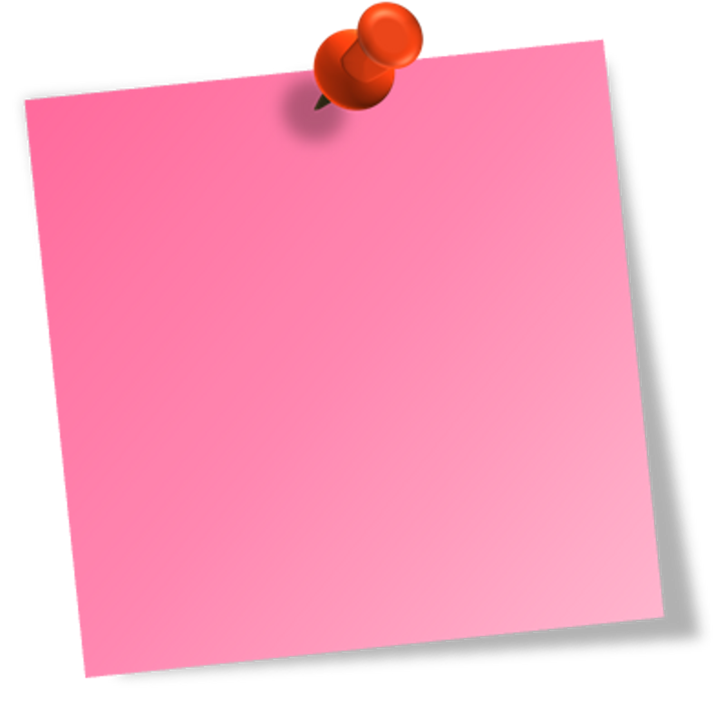 Post-it_Pink.png; Post it Pink - Post Its PNG