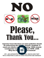 Poster On Noise Pollution PNG - 73519