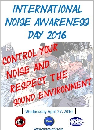 Poster of the 2016 International Noise Awareness Day - Poster On Noise Pollution PNG