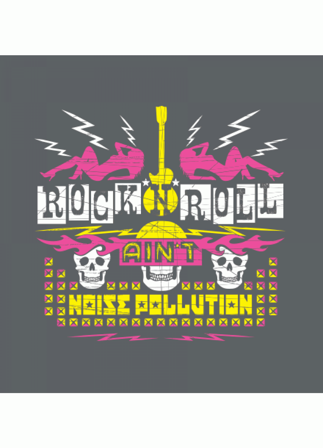 . PlusPng.com Rock N Roll Ainu0027t Noise Pollution T-shirt - Poster On Noise Pollution PNG