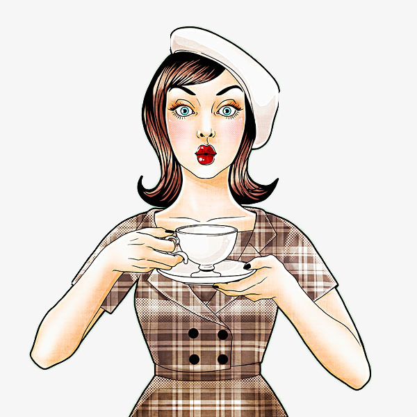 Cartoon coffee pouting woman, Pout, Kiss, Lovely PNG Image and Clipart - Pouting PNG HD