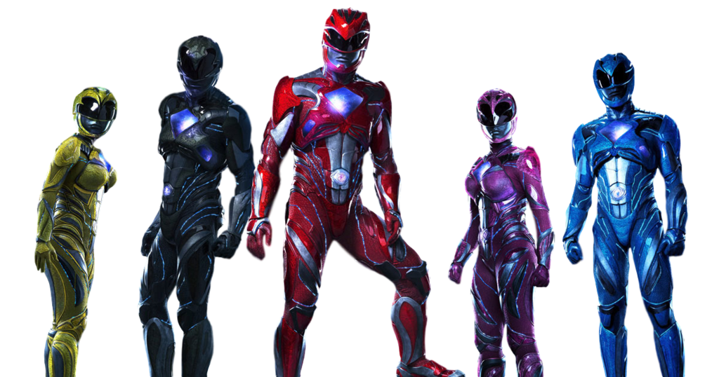 PNG Power Rangers MOVIE (2017, Rita Repulsa, Black Ranger, Pink Ranger,  Yellow Ranger, Red Ranger, Blue Ranger) - Power Rangers PNG