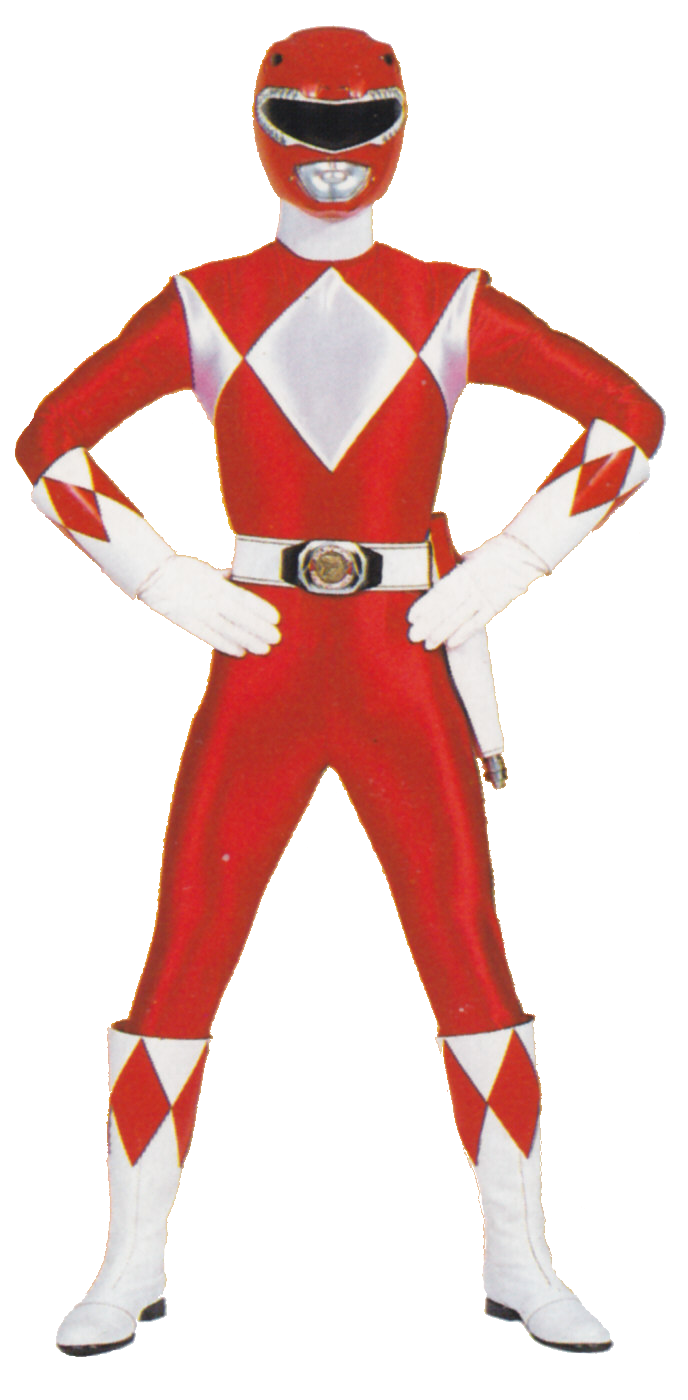Red Mighty Morphin Power Ranger.png - Power Rangers PNG