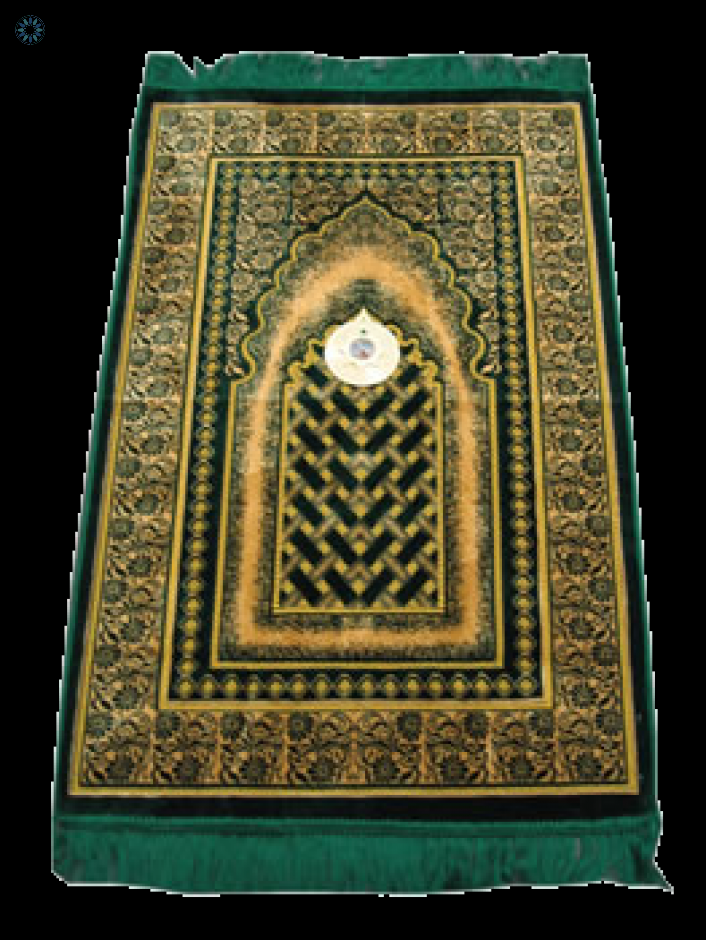 Good Quality Prayer Rug with Compass - Prayer Mat PNG